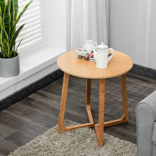 Cafe Tables living room Furniture home Furniture solid wood coffee table round table square desk minimalist modern 60*60*60cm(China)
