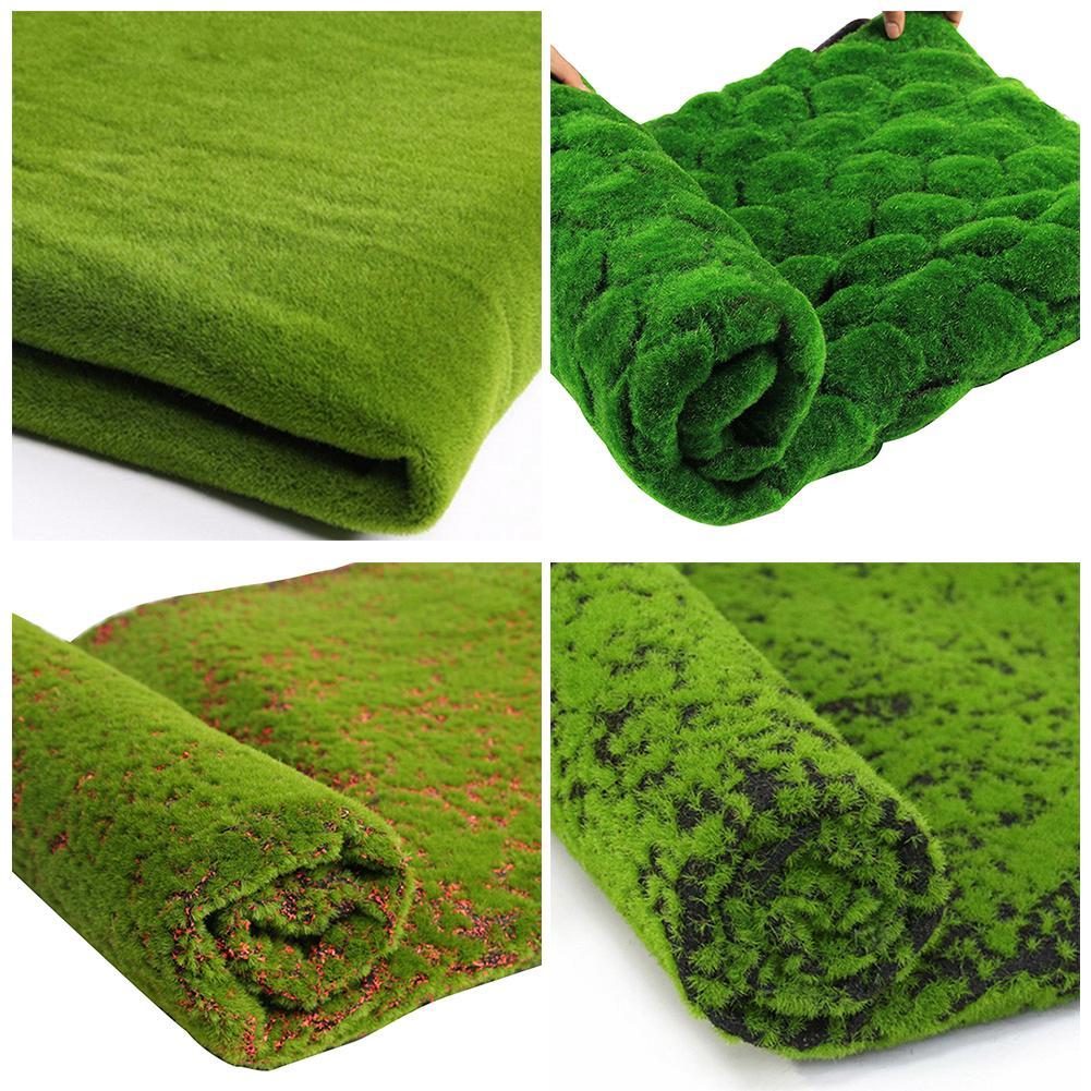 1M*1M Green Straw Mat Artificial Simulation Turf Lawn Carpet Home Garden Moss Home Floor For Wedding Easter Xmas DIY Decor Grass