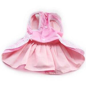 Image 4 - Armi store Dog Dresses Pink Princess Dress For Dogs 6071054 Pet Clothing Supplies ( Dress + Hat + Panties + Leash = 1set