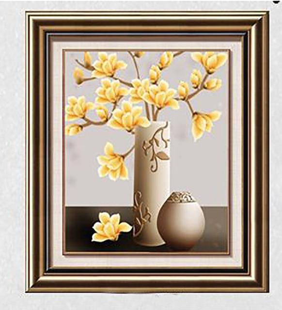 Sketsa Bunga Lukisan Vas Bunga Sederhana