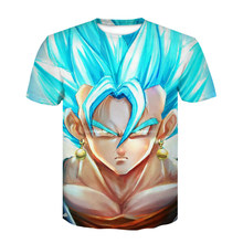 dragon ball t shirt super saiyan dragonball z dbz goku Vegeta capsule corp t-shirt men/women/children larga for boys teen(China)