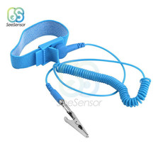 все цены на Anti-Static ESD Wristband Discharge Cables Wrist Strap Band Grounding Prevent Static Shock Cordless Wireless Clip Antistatic онлайн