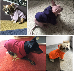 Image 2 - Dog Hoodies Autumn and winter warm sweater For Dogs Coat Jackets Cotton  Puppy Pet Overalls For Dogs clothes Costume Cat clothes