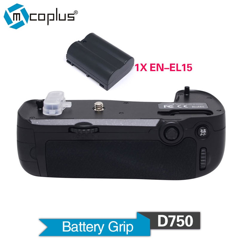 Mcoplus Venidice VD-D750 Vertical Battery Grip with 1pcs EN-EL15 for Nikon D750 DSLR Camera as MB-D16 as Meike MK-D750 meike vertical battery grip for nikon d7200 d7100 rechargeable li ion batteries as en el15 017209