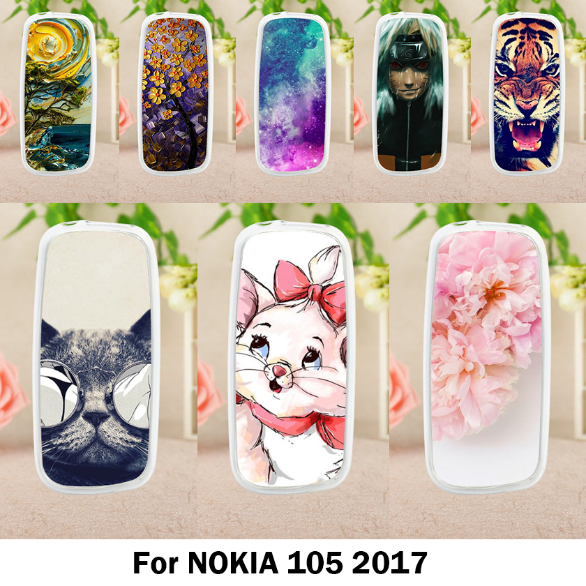 Vanveet Soft <font><b>Cases</b></font> For <font><b>Nokia</b></font> <font><b>105</b></font> (<font><b>2017</b></font>) <font><b>Case</b></font> Antil-knock Cover Skin for <font><b>Nokia</b></font> <font><b>105</b></font> (<font><b>2017</b></font>) 1.8 inch Silicone Housings image