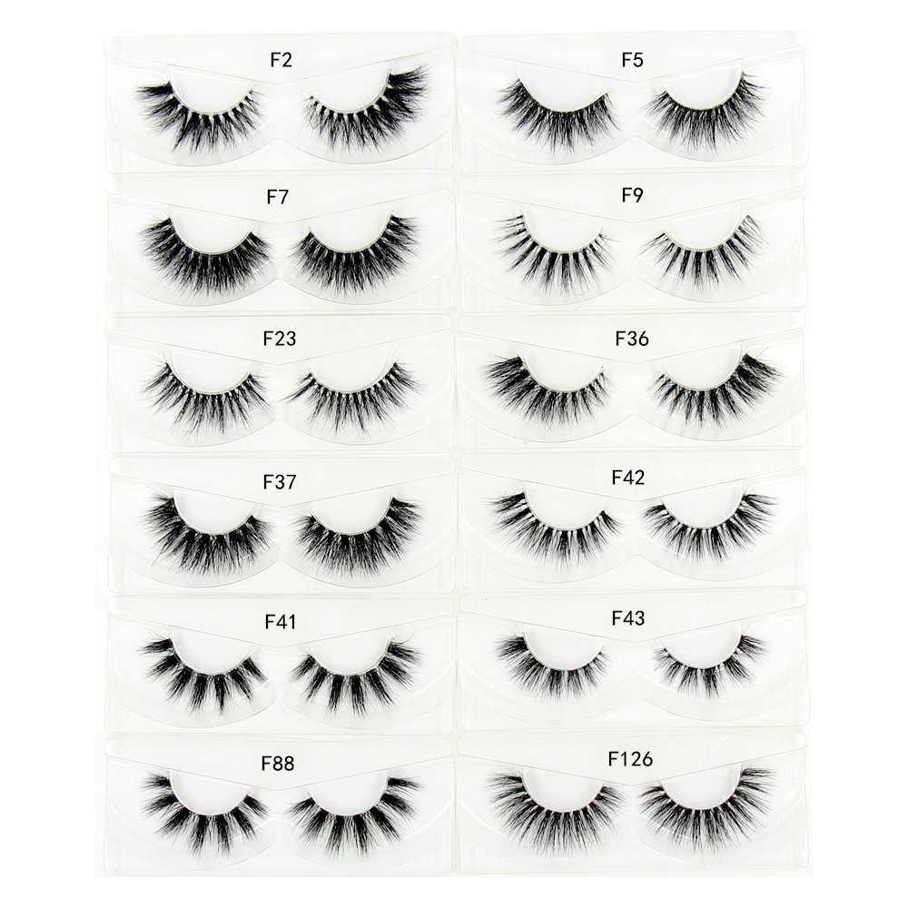 51f2aa660b9 Mink Eyelashes 3D Mink False Eyelash Natural Full Strip Transparent band  lashes cilios posticos 12 styles
