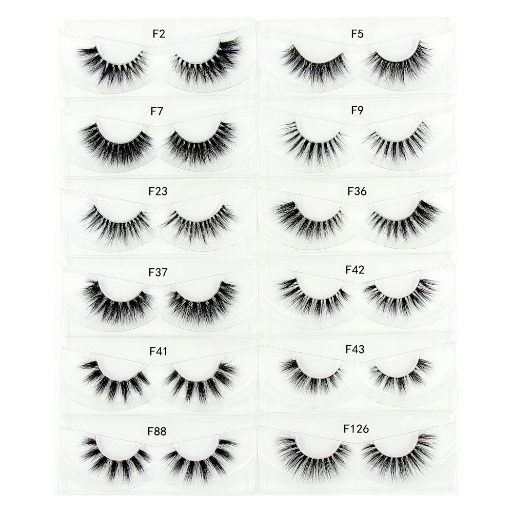 False Eyelashes Obliging #5001 High Quality Slender Eye Lash Real 3d Soft Long Natural Eye Lashes Makeup Thick False Eyelash Extension
