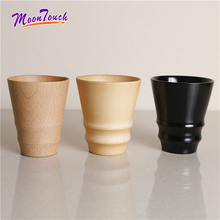 300ml Coffee Cup Vintage Wooden Tea Milk Drinking Portable Wood Cafe Mug Best Office Gift Japanese Style Pratical