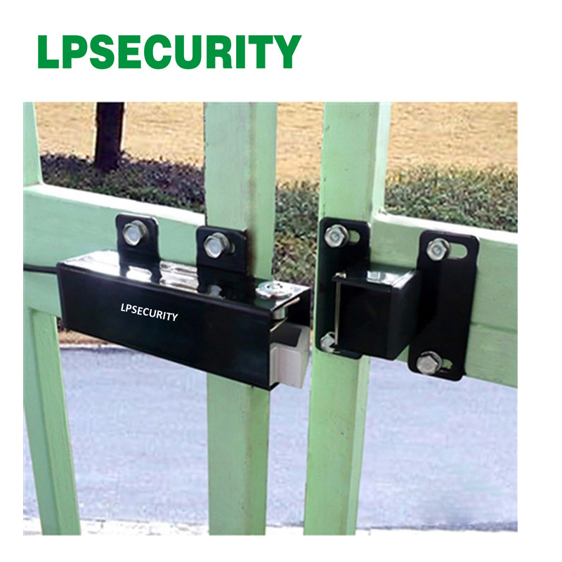 LPSECURITY 24VDC OUTDOOR WATERPROOF Electric Lock drop bolt for Automatic Swing Gate DOOR Opener Operator lpsecurity 100kg weight inward automatic swing door opener swing door operator closer keypad door lock ir sensor