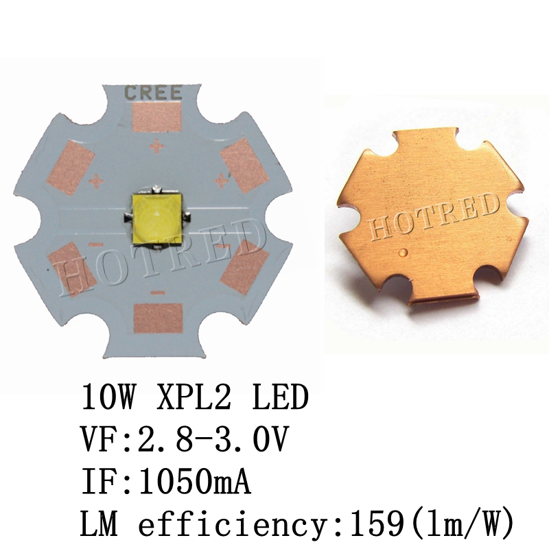 1PCS Original Cree XPL2 LED XP-L2 XPL 2nd Generation Diodes HD 3535 Led Chip Cool White High Power LED With 20mm Copper Pcb