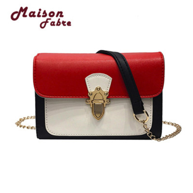 93ea44474a HB INS Hot Sell Women s Favorite Dating Tri-color Stitching Crossbody  Shoulder Purse Hand