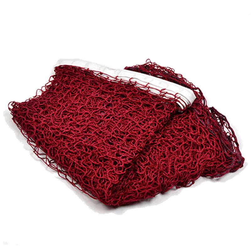 Standard Professional Training Square Mesh Braided Badminton Net Red//Green