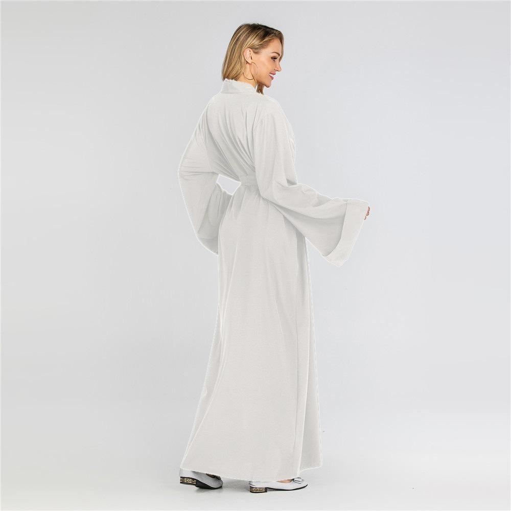 Nova Frente Aberta Cardigan Kimono Maxi Abaya