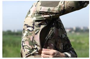 Image 5 - Мужская камуфляжная куртка, ветрозащитная тактическая куртка в стиле милитари, с воротником стойкой, флисовая верхняя одежда