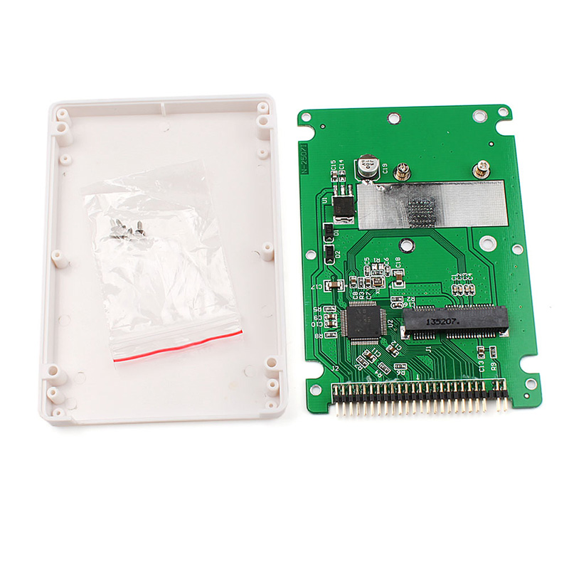 New ST6008C Mini SATA MSATA SSD To 44pin IDE Adapter With Case As 2.5