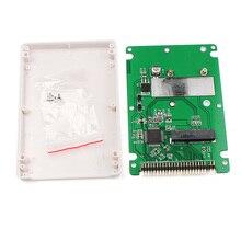 """חדש ST6008C מיני SATA mSATA SSD כדי 44pin IDE מתאם עם מקרה כמו 2.5 """"HDD SINTECH #74203"""