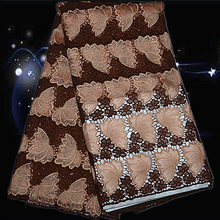 Item No SPS124 big quality African guipure lace fabric nice looking embroidered cord lace fabric for