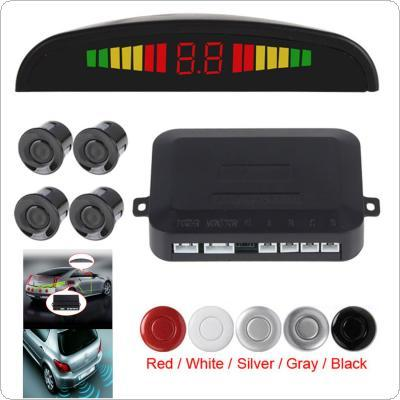 Car Parking Sensor Kit System Car Auto LED Display 4 Sensors for All Cars Reverse Assistance Backup Radar Monitor Parking System