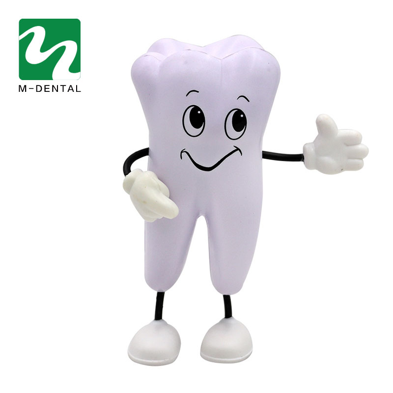 1 Piece Tooth-figure Squeeze Toy Soft PU Foam Tooth Doll Model Shape  Dental Clinic Dentistry Promotional Item Dentist Gift