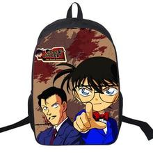 Cartoon School Backpack Japanese Anime Designer DETECTIVE CONAN Backpack For Boys Girls Satchel Shoulderbag Children Bagpack Bag