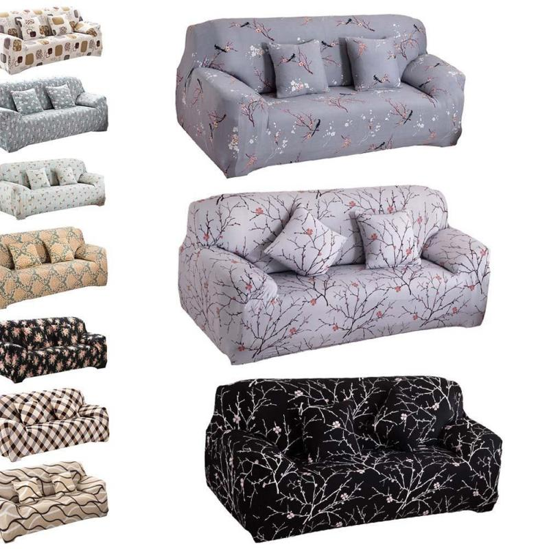 Printed Color New Cloth Art Turnkey Antiskid Polyester Stretch Sofa Cover Big Elastic Sofa Furniture Cover