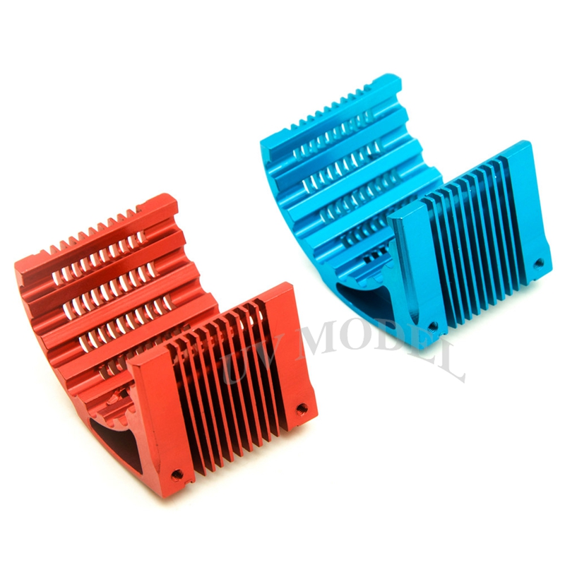 CNC Heat Sink Radiator Aluminum 42MM MOTOR For Castle 1515 4274 XERUN Blue Red tansky 42mm 2 row performance aluminum radiator for nissan skyline r33 r34 tk r106rad