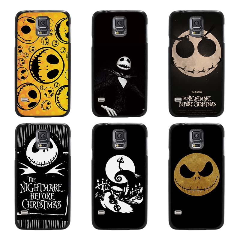 Jack Skellington The Nightmare Before Christmas Black Case Cover Scrub Shell Coque for Samsung Galaxy S3 S4 S5 Mini S6 S7 Edge P