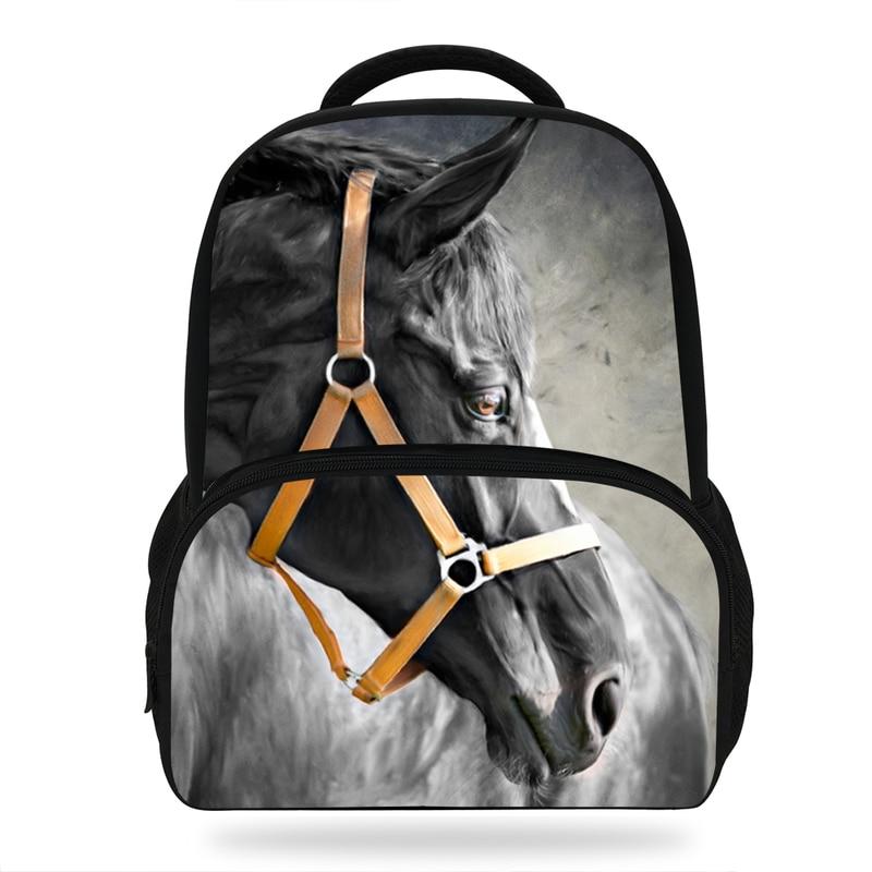 Fashion 16 Inch Hot Sale Children School Bagpack For Boys Girls Horse Print Animal Backpack For Kids