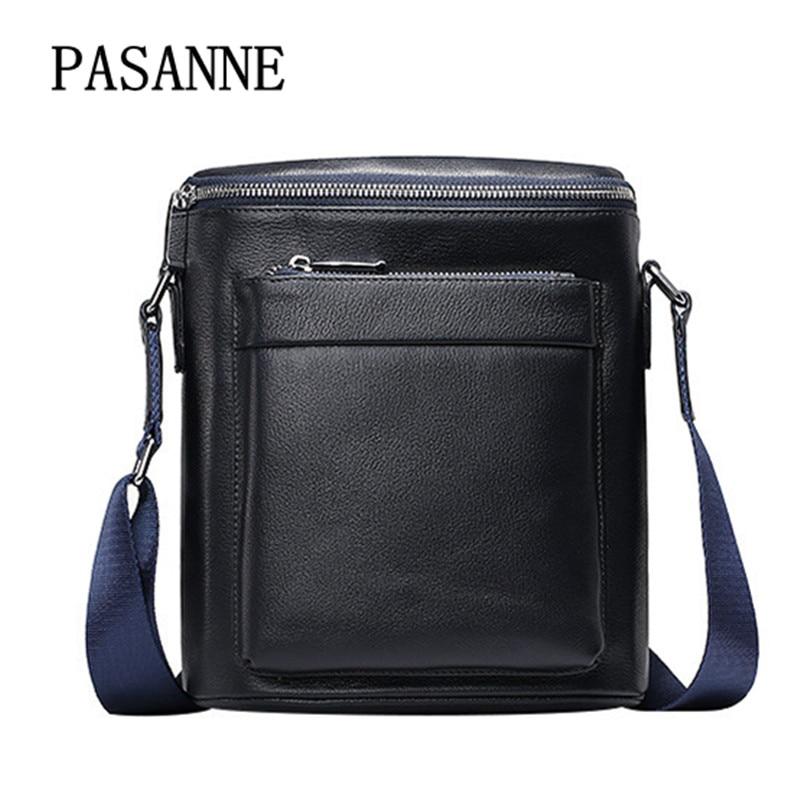 New Man Shoulder Bag Business Handbag Cow Leather 2017 Fashion Male Casual Handbags Genuine Leather Men's Crossbody Bags