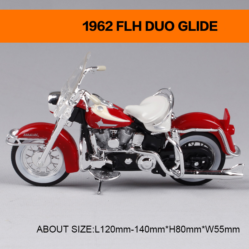 Motorcycle Models 1962 FLH DUO GLIDE 1997 FXSTSB BAD BOY Retro moto 1:18 scale Alloy Heavy motorcycle model Collection Gifts