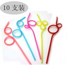 10pcs/lot disposable paper straws vintage color drinking straws for kids birthday wedding decoration christmas party supplies