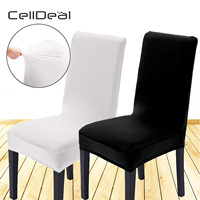 CellDeal 6pcs Removable Stretch Lycra Spandex Chair Seat Cover Slipcovers Dining Banquet Hotel Chairs Dining Chairs Cover