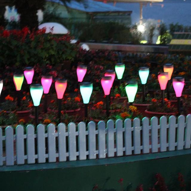 goede kwaliteit led kleurrijke solar gazon verlichting tuin villa binnenplaats lampen zeven kleuren van de licht