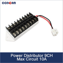 CCDCAM 9CH Power Distributeur DC & AC Connector/Splitter met max circuit 10A voor CCTV camera(China)