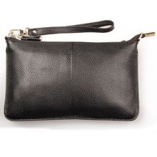 free shipping new fashion brand women's long wallet clutches wristlets ladies purse shoulder bag money pack genuine cow leather