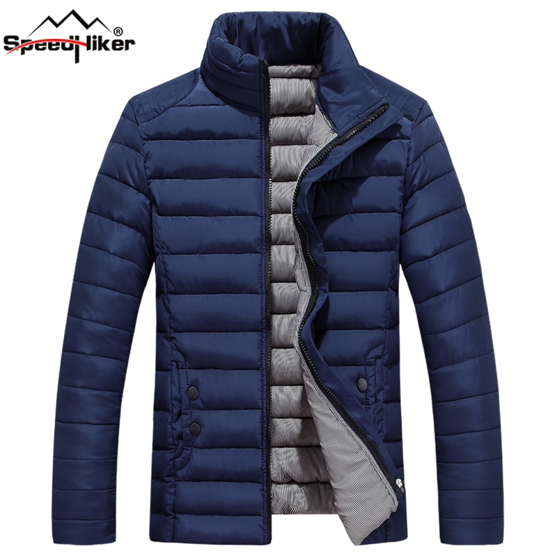 Speed Hiker Winter Jacket Men 2017 Cotton Padded Warm thicken Short jacket coat Clothing Stand Collar Male Solid Parkas coat 5XL