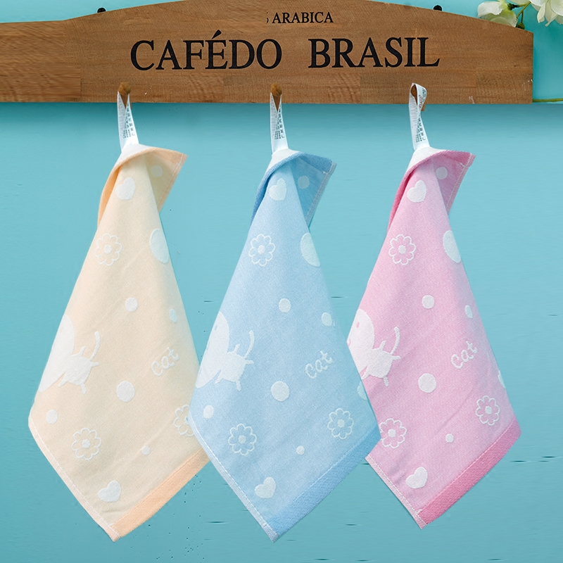 Cartoon Cotton Towels Soft Baby Towel Handkerchief For Infant Kid Children Feeding Bathing Face Washing 25*25cm
