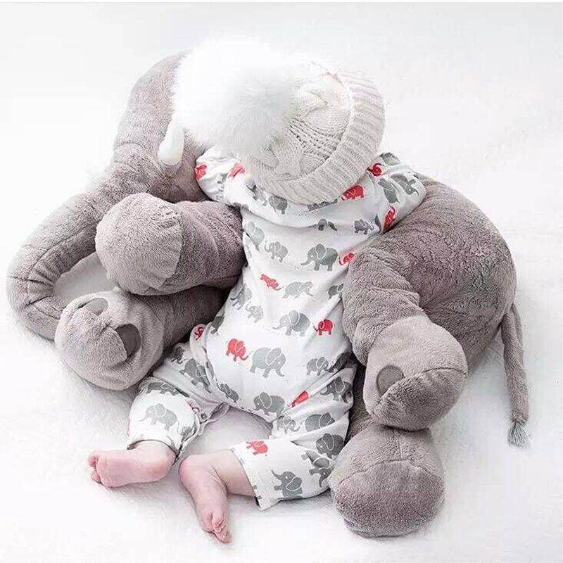 Elephant Pillow Stuffed Toy Soft ChildrenS Baby Photograph Toys Kids Bed Car Seat Cushion Peluche In Movies TV From