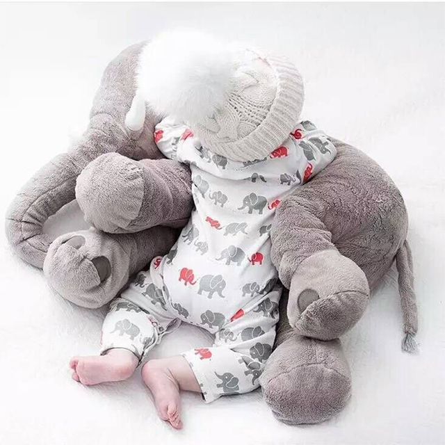 Elephant Pillow Stuffed Toy Soft ChildrenS Baby Photograph Toys Kids Bed Car Seat Cushion