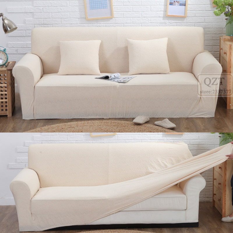 Stretch sofa slipcover white White loveseat slipcovers