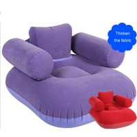 Simple Modern Inflatable Lazy Sofa Single Thicker Flocking Thick Air Cushion Sofa Leisure Chair