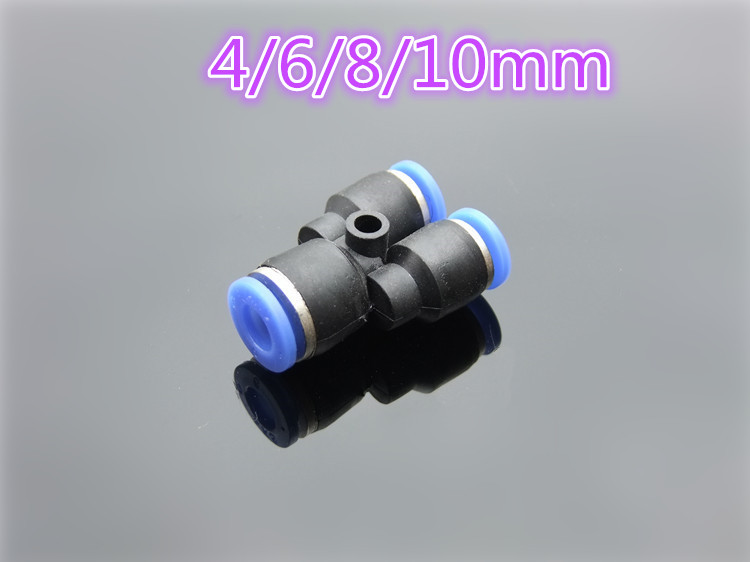 1pc K736 Plastic Pneumatic Joint Y type Tee Union Quick Swapping Connector for Rigid Tube Free Shipping Russia free shipping 30pcs peg 10mm 8mm pneumatic unequal union tee quick fitting connector reducing coupler peg10 8