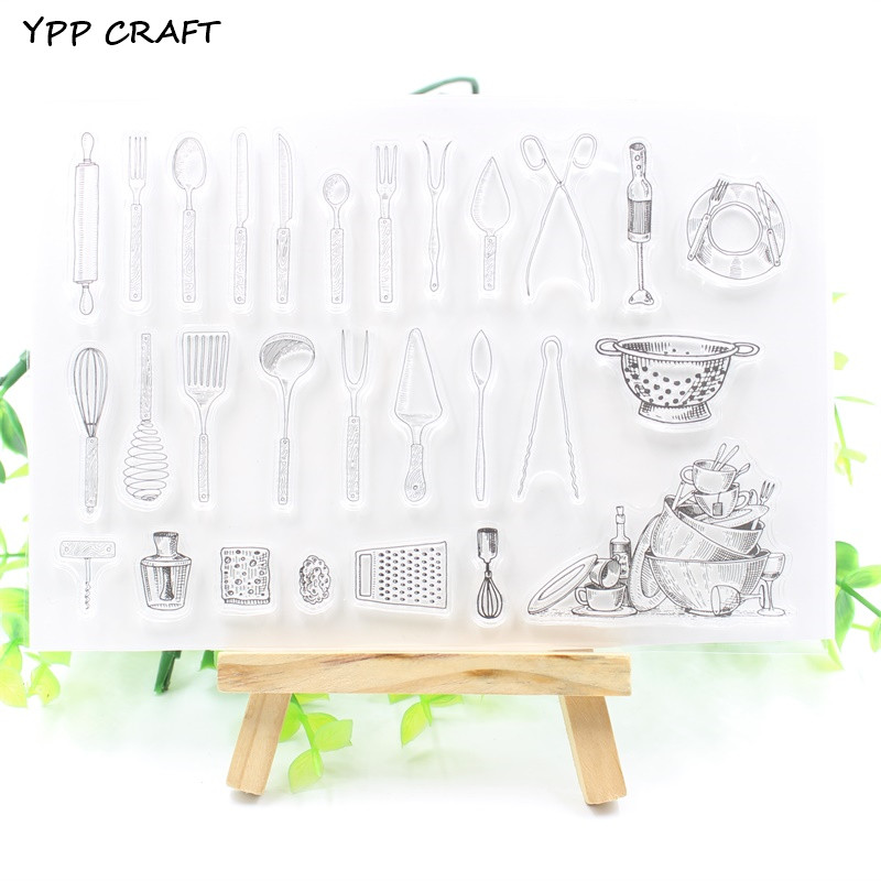 YPP CRAFT Kitchen Transparent Clear Silicone Stamps for DIY Scrapbooking/Card Making/Kids Fun Decoration Supply