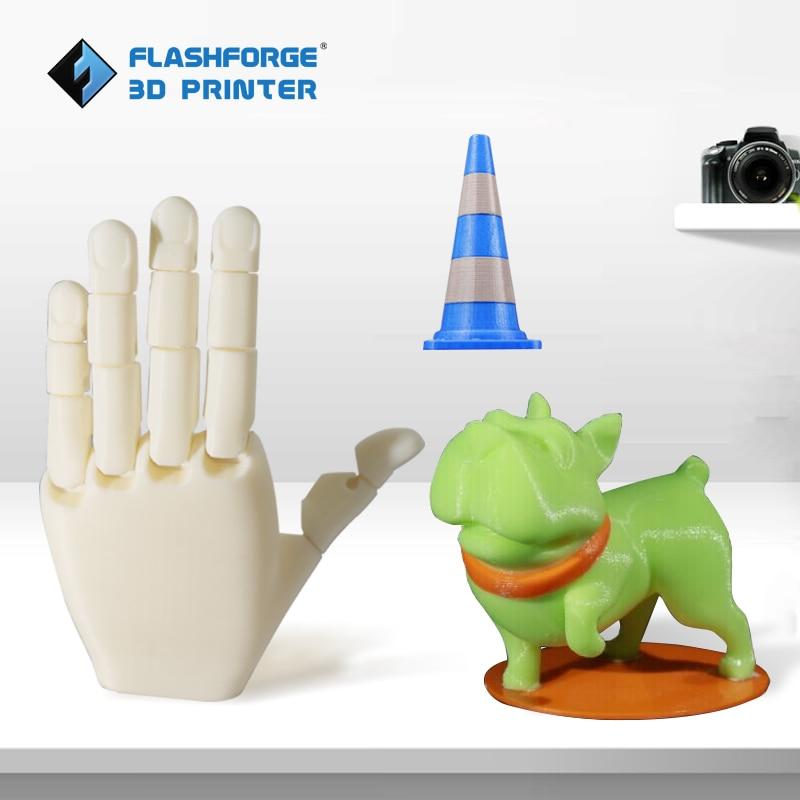 FlashForge 3d imprimante créateur Pro Open Source 6.3mm chauffé en aluminium plaque de construction double extrudeuse W/2 bobines sortie d'usine - 2