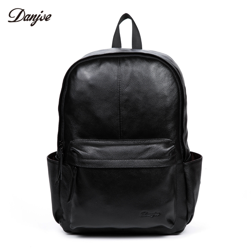 Danjue Genuine Cow Leathe Backpack For Man High Quality Large Capacity Men's Laptop Bag Leisure Gentleman Travel Bag Classic