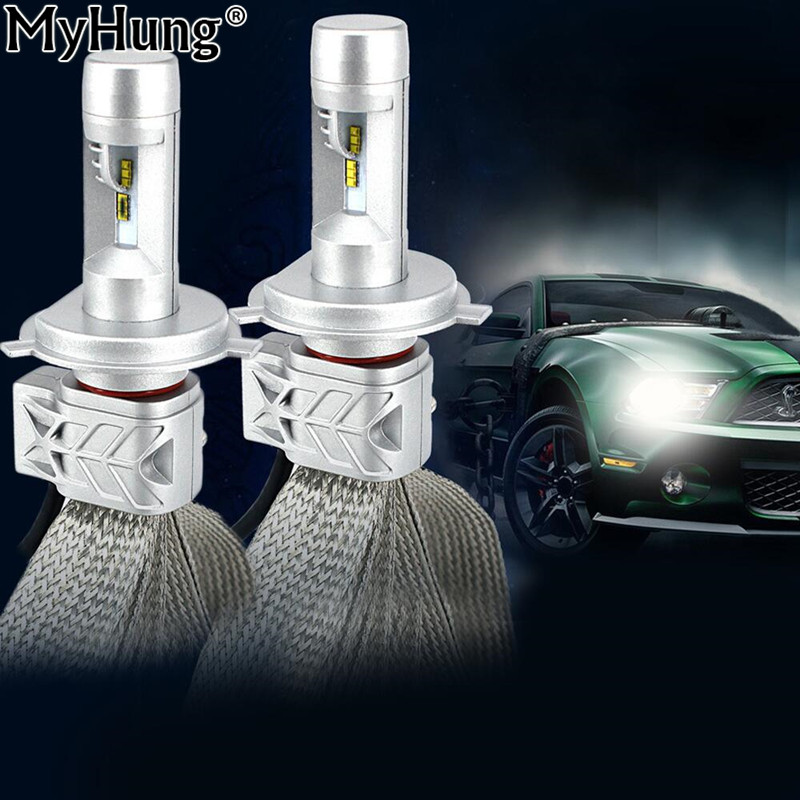 Car LED 2x High Power H4 9003 HB2 DRL 8000lm 40W For Chips Headlight Kit Hi/Lo Dual Beam 6000K Fog Light Bulbs Car-Styling 1 pair dc 9 36v h4 cob 80w led car headlight kit hi lo beam bulbs 6000k
