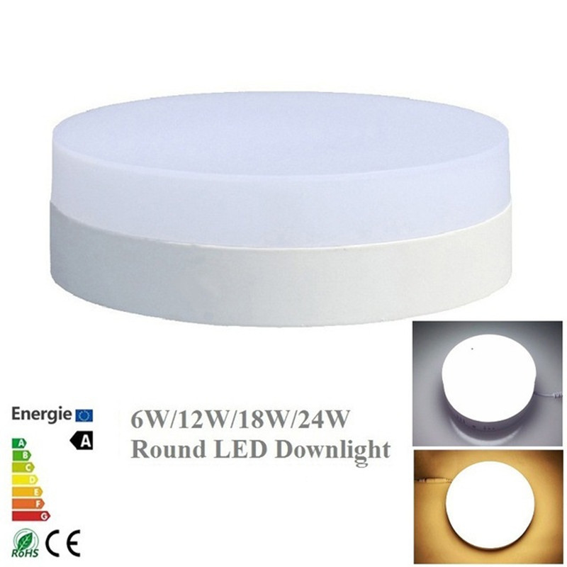No Cut Ceiling LED Light 6W 12W 18W 24W Round Panel Ceiling Lamp Surface Down Light AC86-265V Warm White Cold WhiteNo Cut Ceiling LED Light 6W 12W 18W 24W Round Panel Ceiling Lamp Surface Down Light AC86-265V Warm White Cold White