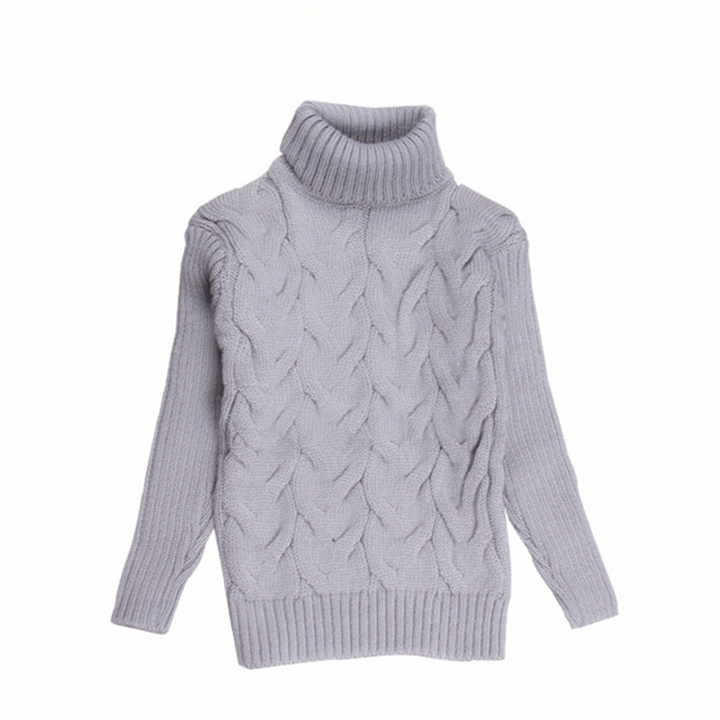 Boys Sweater Knitted Turtleneck Sweaters for Boy Kids Knitwear 2016 Autumn Winter Pullover Cardigan for Boys Children Clothing