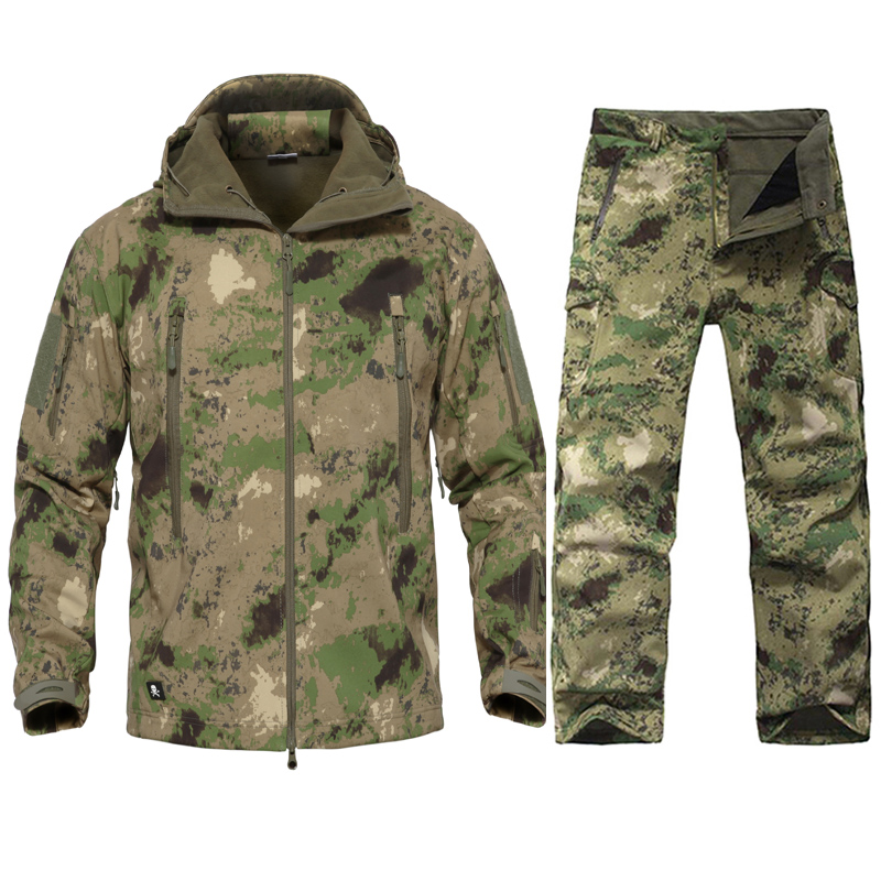 61c881c707f6d Hombres tactical uniforme militar ropa impermeable ejército combate  pantalones tácticos hombres camuflaje caza ropa jpg 800x800