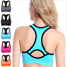 Breathable comfortable Sexy Seamless Bra Women's racer back sports bra High-intensity workout Shock-proof gathering underwear цена и фото